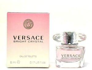 Detalles de VERSACE Bright Crystal Eau de Toilette Mini Viaje Tamaño .17oz5 Ml Nuevo en Caja ver título original