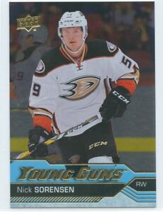 16-17-UPPER-DECK-YOUNG-GUNS-SILVER-FOIL-ROOKIE-RC-203-NICK-SORENSEN-DUCKS-49950