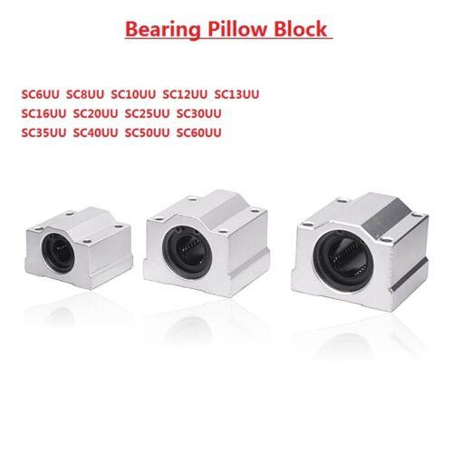 Linear Motion Ball Bearing Pillow Block 6//8//10//12//13//16//20//25//30//35//40//50//60mm
