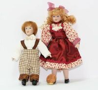 Dollhouse Brother And Sister Doll In Festive Clothing