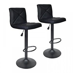 2-PU-Leather-Modern-Adjustable-Swivel-Barstools-Hydraulic-Chair-Bar-Stools-BT10