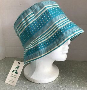 c014d1ab4 Details about The Hats Company By Filippo Catarzi Italian Hat Ladies  Turquoise Sun Hat