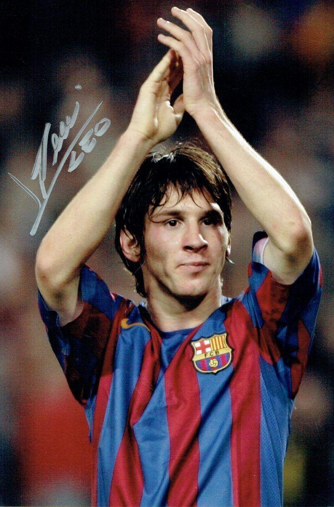 Lionel Messi-fotografía de Color firmado