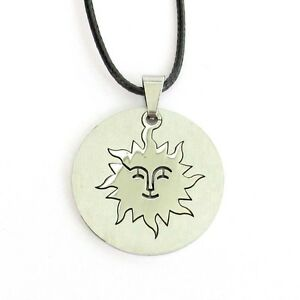 Stainless-Steel-Happy-Face-Sun-Pendant-Jewelry