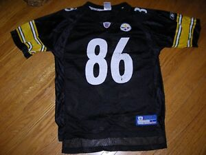 Details about NFL, Reebok, Pittsburgh Steelers jersey, #86, Hines Ward,  size youth Large, gd