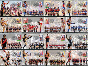 1996-Centenary-of-AFL-Set-of-16-Maxi-Cards-Prepaid-Postcard-Maxicards-Stamps