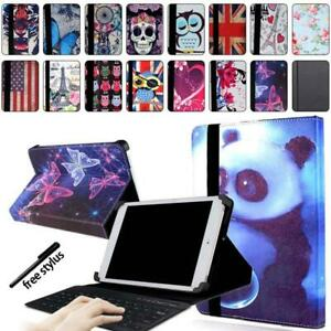 Leather-Stand-Cover-Case-Bluetooth-Keyboard-For-Various-10-034-ARCHOS-101-Tablet