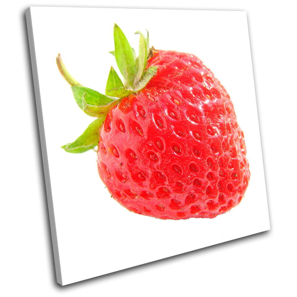 Strawberry Fruit Food Kitchen SINGLE TELA parete arte foto stampa
