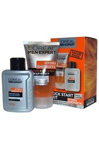 Kit-de-arranque-patada-L-039-Oreal-Men-Expert-Hydra-lavado-de-cara-y-Post-Gel-de-afeitar