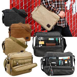 Men-039-s-Vintage-Canvas-Messenger-Shoulder-Bag-Crossbody-Sling-School-Bags-Satchel
