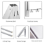 LIVEHITOP-Foldable-Wall-Mounted-Clothes-Rail-2-Pieces-Coat-Hanger-Racks-Dryer thumbnail 6