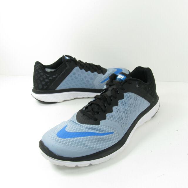 Nike FS Lite Run 3 Mens Size 10 Blue Black Athletic Training Road Running Shoes