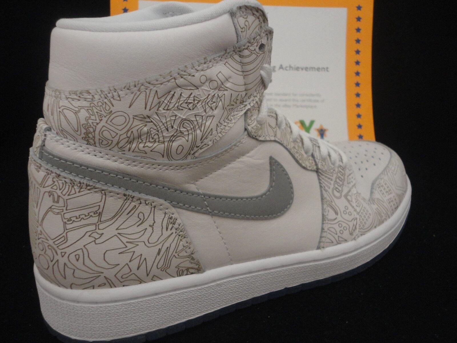 new arrival 0ea9f 35e8f Nike Air Jordan 1 retro Hi OG OG OG láser, Blanco   Metallic Plata,