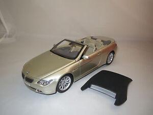 Kyosho-BMW-6-series-convertible-beige-metallise-1-18-sans-emballage