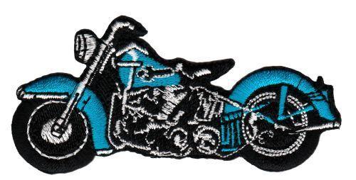 Am88 MOTO BLU Chopper ricamate STAFFA immagine applicazione rappezzi Motociclista Bobber