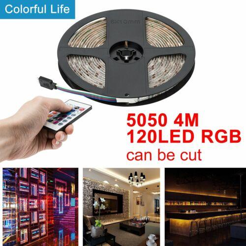 UK USB Power LED Strip Lights 5050 RGB Computer TV Backlight Remote Control 1-5M