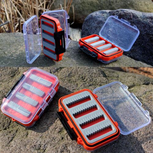 hot Double Side Waterproof Foam Fly Fishing Bait Lure Hook Storage Case Box ZE