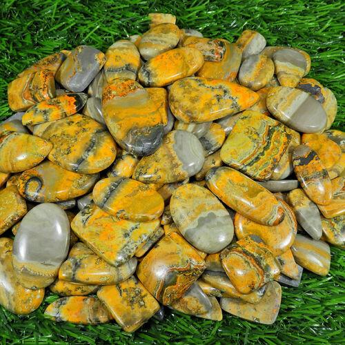 750Cts.Natural Bumble Bee Jasper Mix Shape Cabochon Loose Gemstone 23Pcs Lot