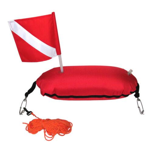 Nylon Spearfishing Torpedo Buoy Diving Scuba Float Dive Flag Rope Line Hooks