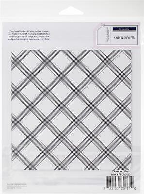 "Pinkfresh Studio Cling Rubber Stamp Set 6/""X6/""-Nested Diamond Background"