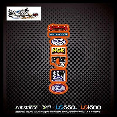 544 Metzeler NGK Fox Rear Fender White Decal Sticker MX