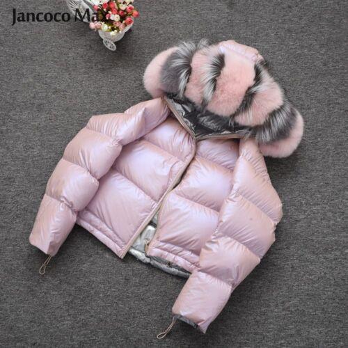 Big en rembourré Manteau 57482 Fox d'hiver col avec en matelassé fourrure fourrure manteau d'hiver xYqqp05w