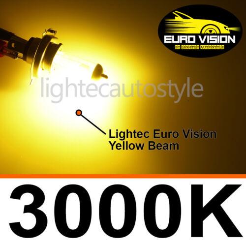 Lightec H7 GOLDEN EURO GIALLO XENON LAMPADINE ALOGENE 12V 100W UPGRADE 3000K BMW SERIE