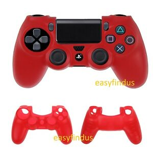 EASYFINDUS-For-Sony-PS4-Silicon-Case-Sleeve-skin-bag-Cover-Controller-red-new