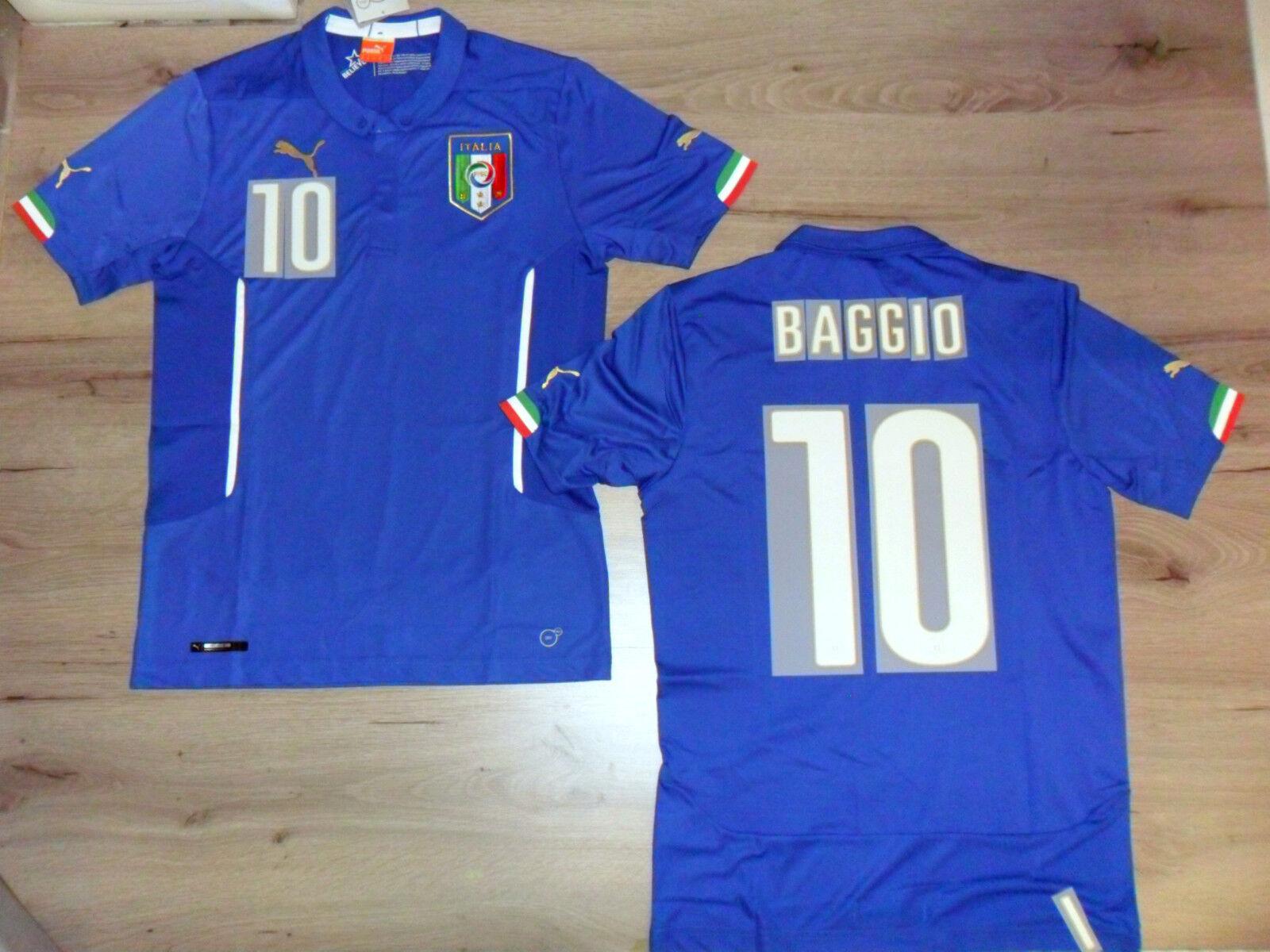 FW14 PUMA XL HOME ITALIA 10 BAGGIO MAGLIA MAGLIETTA MONDIALI SHIRT JERSEY