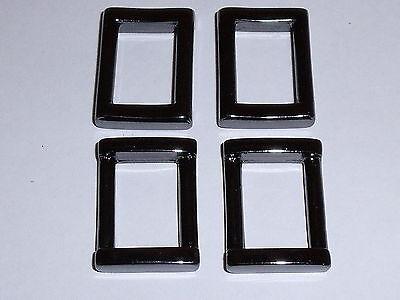 6 Stück Rechteckringe Schlaufen Ringe 50 x 35 mm silber NEUWARE rostfrei #821.2#