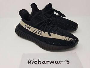 88a575edd1777 Adidas Yeezy Boost 350 V2 SPLY Black White Stripe Oreo UK 12.5 US 13 ...