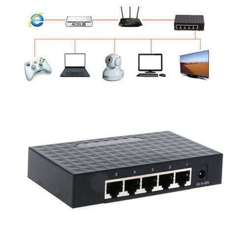 5-Port 10//100//1000Mbps Fast LAN Ethernet Network Switch HUB Desktop Mini Adapter