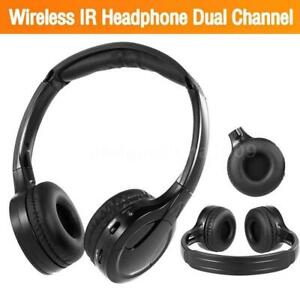 Ir Infrared Wireless Headphones Headsets Dual Channel For In Car Dvd Player Ebay
