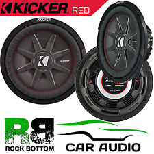 "Kicker CWRT101 10"" CompRT Shallow Mount DVC 1200 Watts Dual 1 Ohm Car Subwoofer"