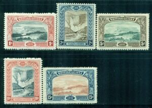 BRITISH-GUIANA-152-56-SG216-21-MH-1898-QVIC-Jubilee-Issue-set-Cat-175