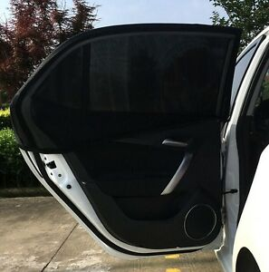 2 x Universal Car Sun Mesh Blind Rear Window Sun Shade Sunshine Blocker - UK, United Kingdom - Returns accepted - UK, United Kingdom