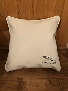 Faux-Leather-Jaguar-17-Cream-Cushion-Cover-With-Fibre-Filled-Inner-Brand-New