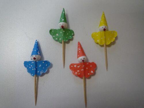 50  Deko Picker Clown Party Spieße  8cm