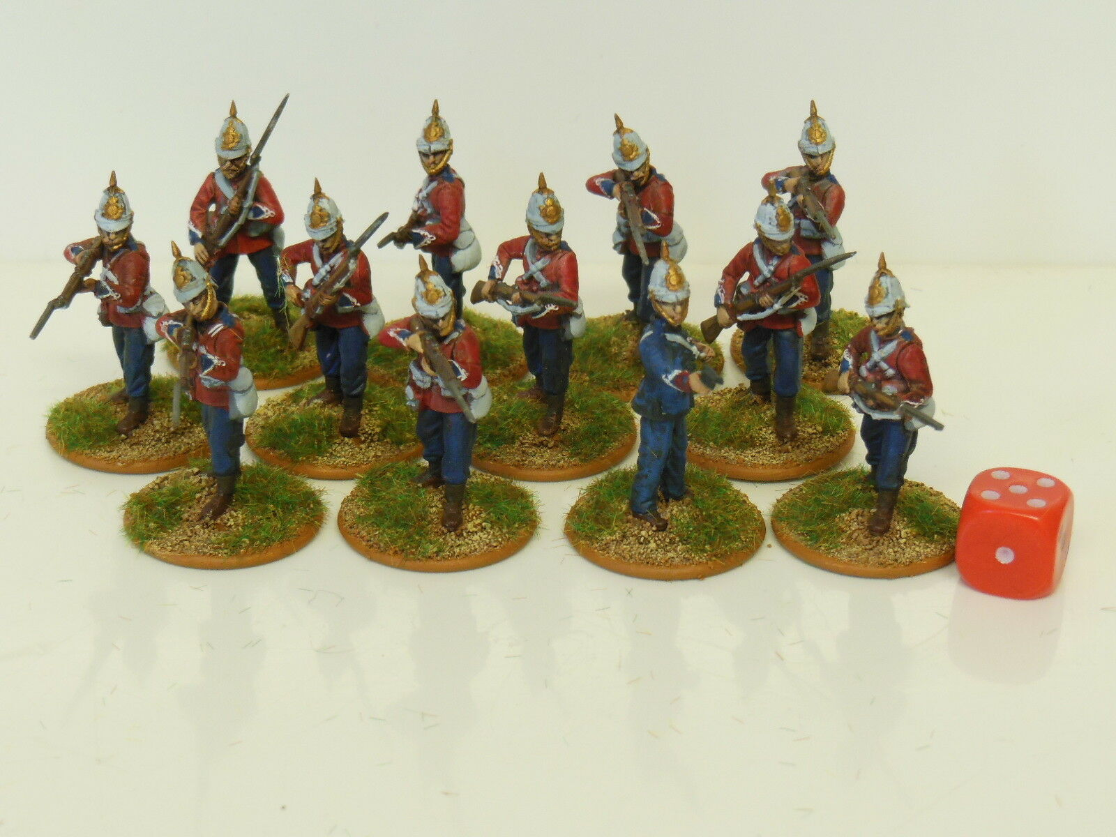 28mm  Zulu Wars British Infantry   Darkest Africa - Painted & Based (R1)