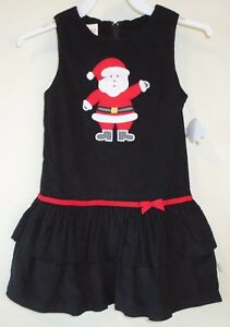 180021a8b9a6 Image is loading New-Lolly-Wolly-Doodle-Appliqued-Santa-Holiday-Dress-