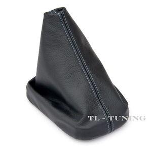 Schaltsack-Schaltmanschette-FADEN-BLAU-passend-fuer-SEAT-ALTEA-Bj-04-09-Leder