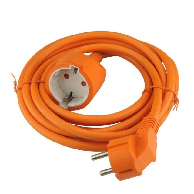 orange UNITEC Schutzkontakt-Verlängerung H05VV-F3G1,5mm² 3m