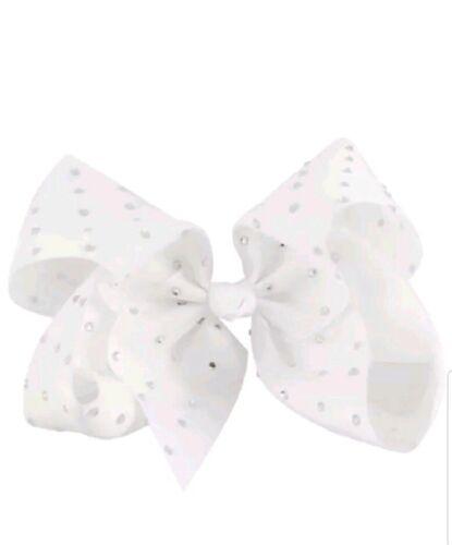 Diamante  Hair Bow Alligator Clip Pin Girls 8 inches