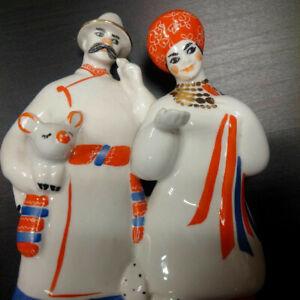 Couple-porcelaine-URSS-Ukraine-Russie-rare-parfait-etat