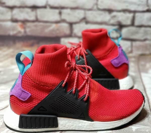 MEN'S NEW ADIDAS NMD_XR1 WINTER Mid Scarlet SNEAKERS (BZ0632) Size 10 Red BNWB