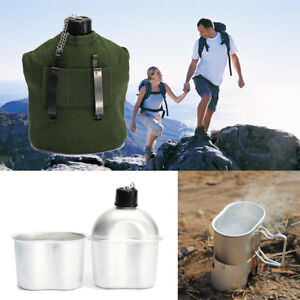 UK-Army-Patrol-Water-Bottle-Mug-amp-Pouch-Set-Canteen-Camping-Hiking-Military-UK