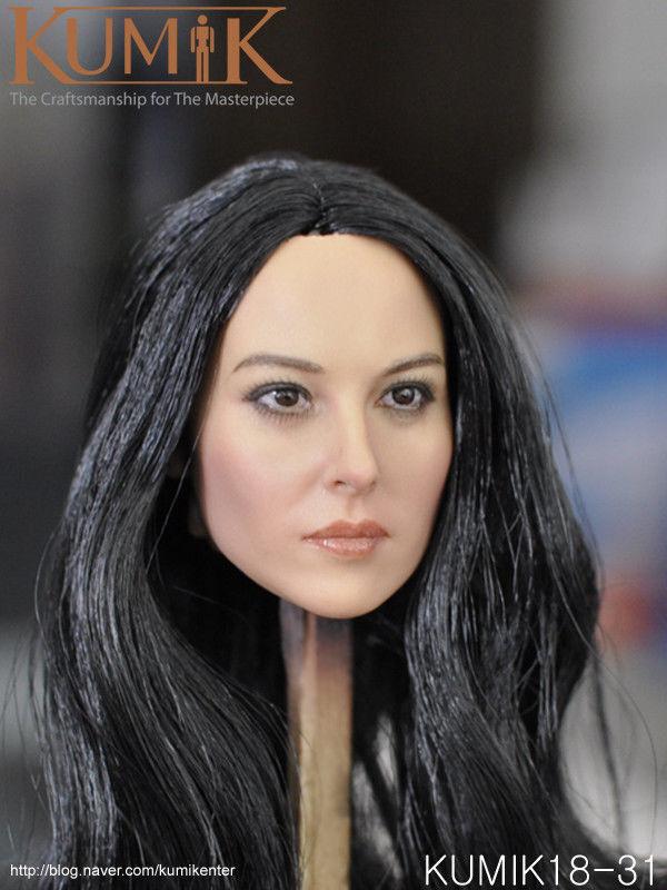 KEDU TOYS 1//6th Head Sculpt Carving Long Curly Hair PVC Toy Head Model
