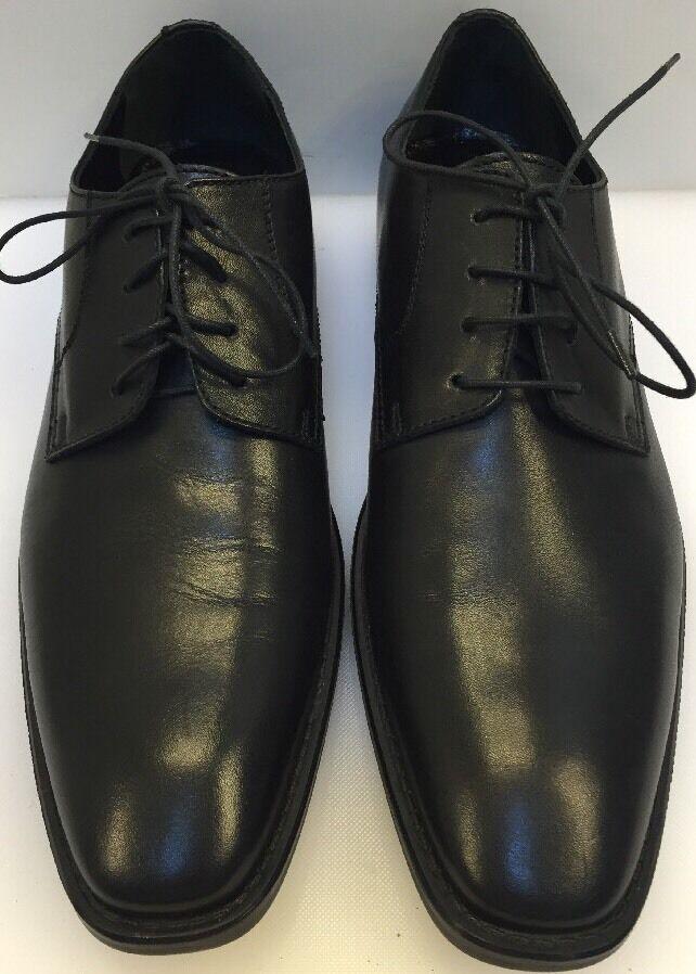 Donald J Pliner Borak -06  Oxfords Plain Toe Black Leather  Made Men 9 NIB