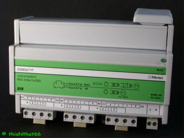 Merten EIB KNX Jalousieaktor 6fach 648629
