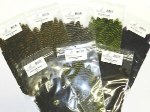 NATURE'S SPIRIT GRIZZLY HEN SADDLES SOFT HACKLE FOR FLY TYING YOU PICK COLOR
